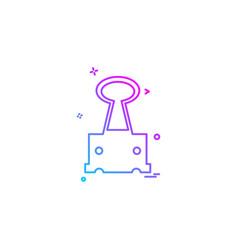 clip icon design vector image