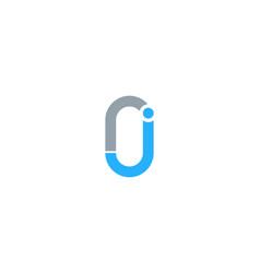 clip letter j logo icon design vector image