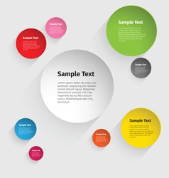 Color Circle Design vector image