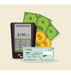 Dataphone of money concept vector