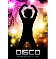 Disco party poster floral vector