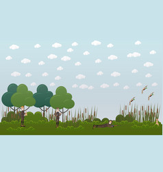 duck hunting flat vector image