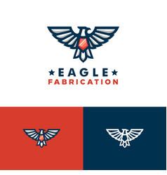 Eagle concept design template vector