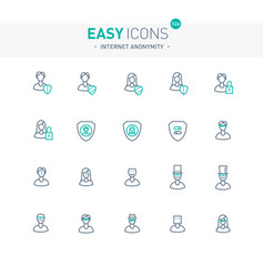Easy icons 52e internet anonymity and privacy vector