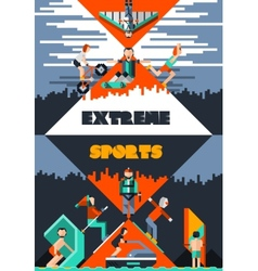 Extreme Sports Poster vector image