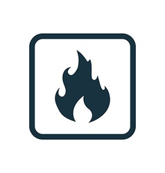 fire icon Rounded squares button vector image