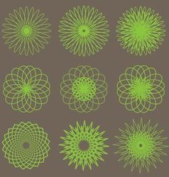 Flower Line design vector