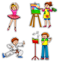 Fun hobbies vector