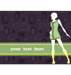 girl and banner vector image
