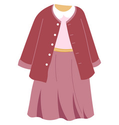 Girl kid apparel stylish outfit for children vector