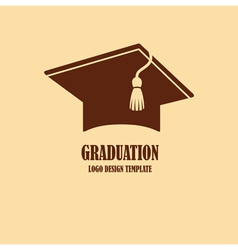 Graduation cap logo design vector