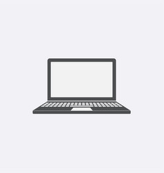 gray laptop icon isolated on background modern fl vector image
