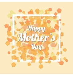 Happy Mothers Day Card with Orange chamomile vector image