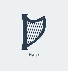 Harp icon silhouette icon vector