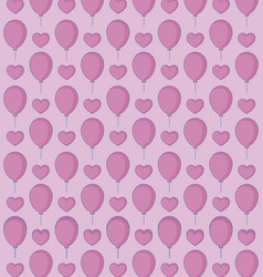 hearts and balloons background vector image