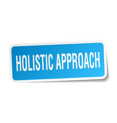 Holistic approach square sticker on white vector