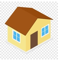 House isometric 3d icon vector image