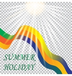Inscription summer holiday Solar Brazil vacation vector