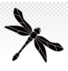 Insect dragonfly flat icon on a transparent vector