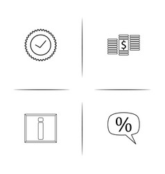 Interface simple linear icon setsimple outline vector