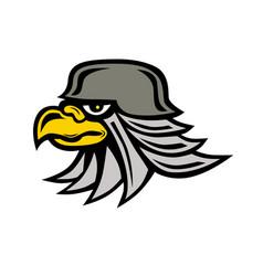 Iron eagle icon vector