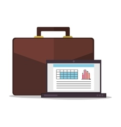 Laptop office and business design vector