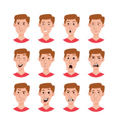 male emoji cartoon character vector image