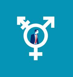 Man in transgender symbol concept human lifestyle vector