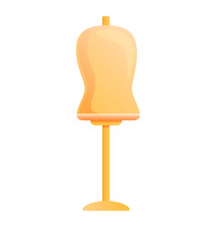 Mannequin bust stand icon cartoon style vector