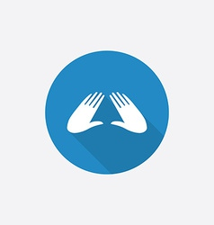 massage Flat Blue Simple Icon with long shadow vector image