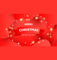 merry christmas background with shining gold vector image