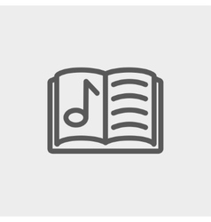 Musical book thin line icon vector