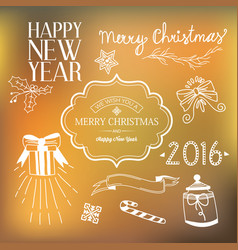 new year festive template vector image