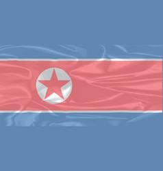 North korean silk flag vector