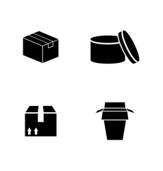 packaging simple related icons vector image