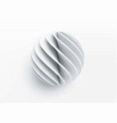 paper cut 3d realistic layered sphere concept vector image