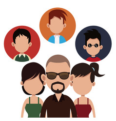 people community society together vector image