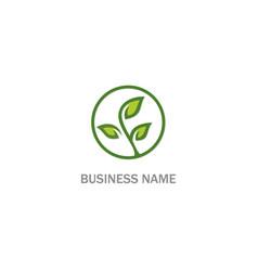 Plant tree green leaf organic logo vector