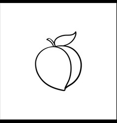 plum hand drawn sketch icon vector image