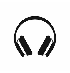 Protective headphones icon simple style vector