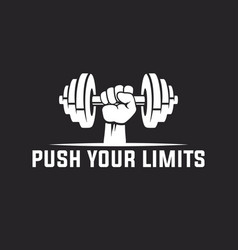 Push your limits motivational quote template vector