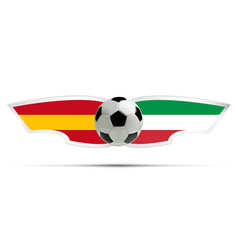Realistic soccer ball or football on itali and vector