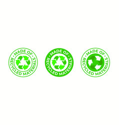 recycling icon made recycled materials vector image