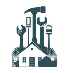 Repair the housing symbol vector