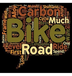 Road Bikes For Sale text background wordcloud vector image