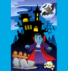 Scene with halloween theme 6 vector