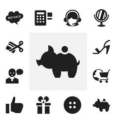 Set of 12 editable trade icons includes symbols vector