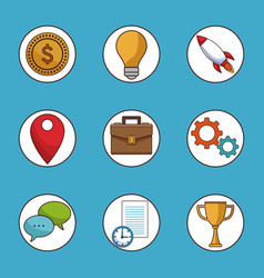 set social network and media icons vector image