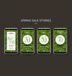 set spring sale web banners for social media vector image