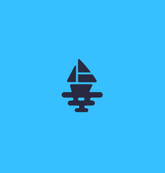 ship logotype boat sea creative logo vector image